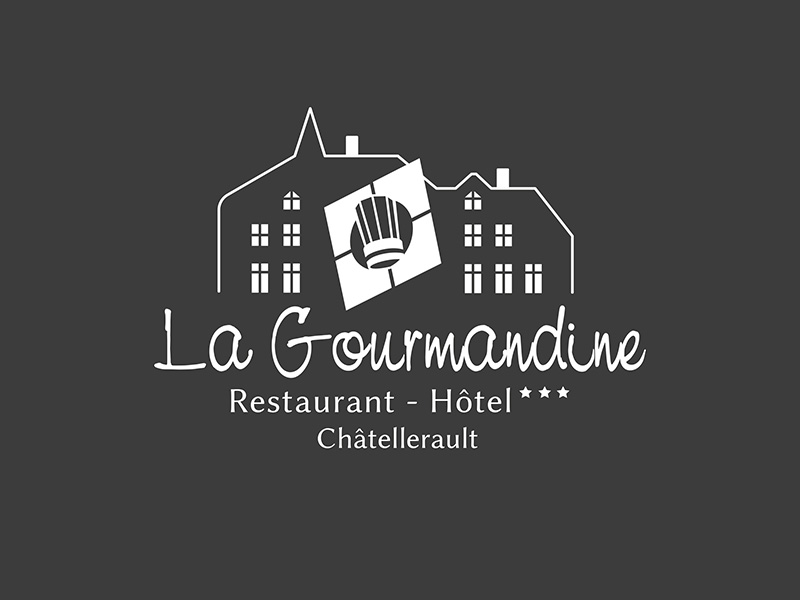 Logo blanc la gourmandine