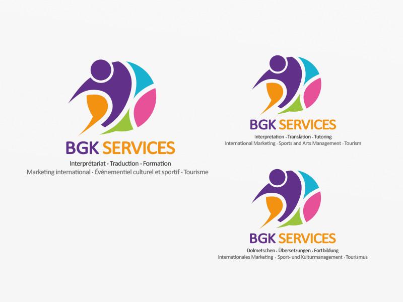 Logo multilangue BGK Services