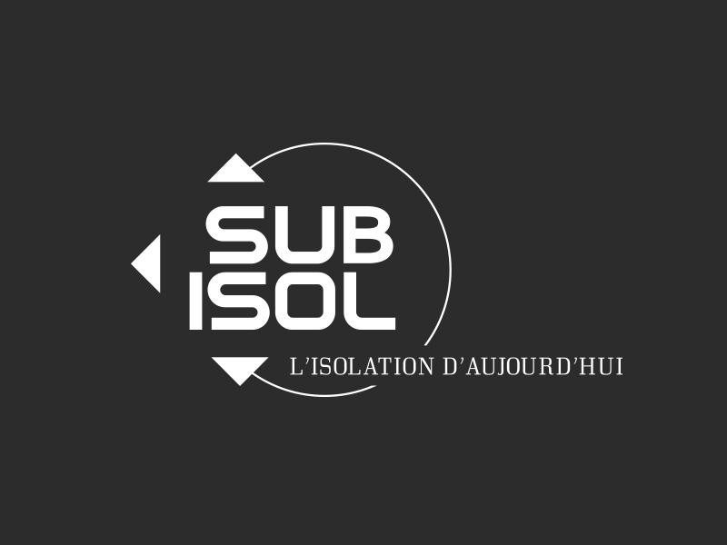 Logo sub isol fond noir