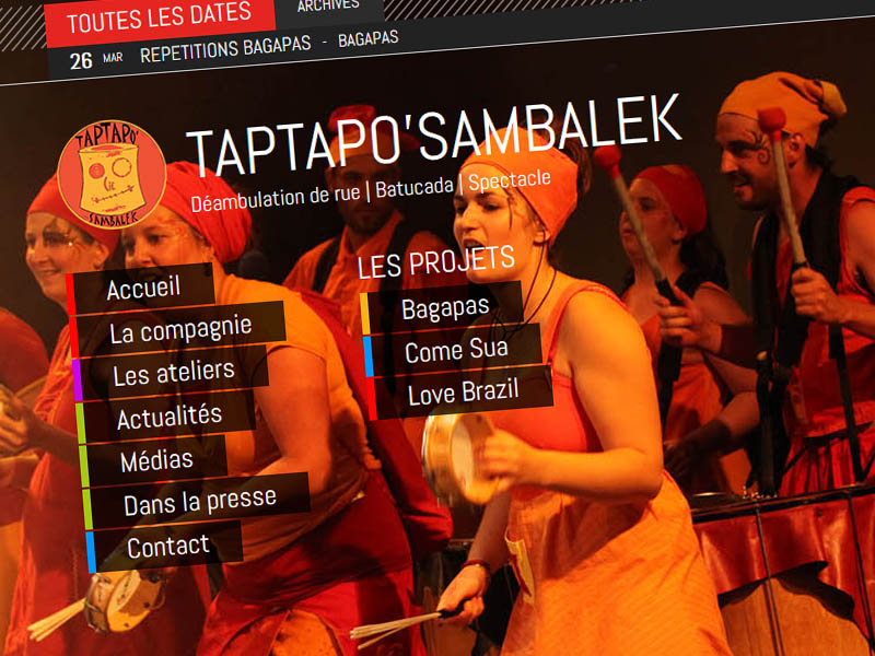Site Internet Taptapo zoom