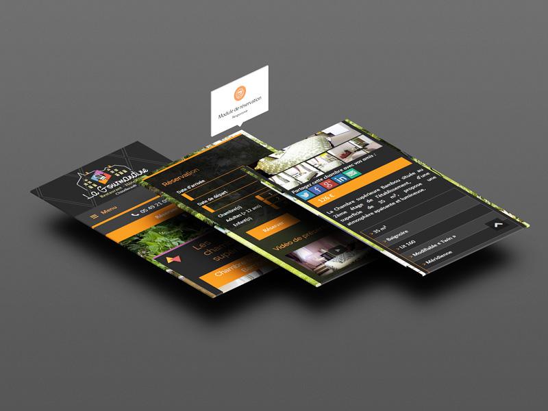 Site Internet mobile La Gourmandine
