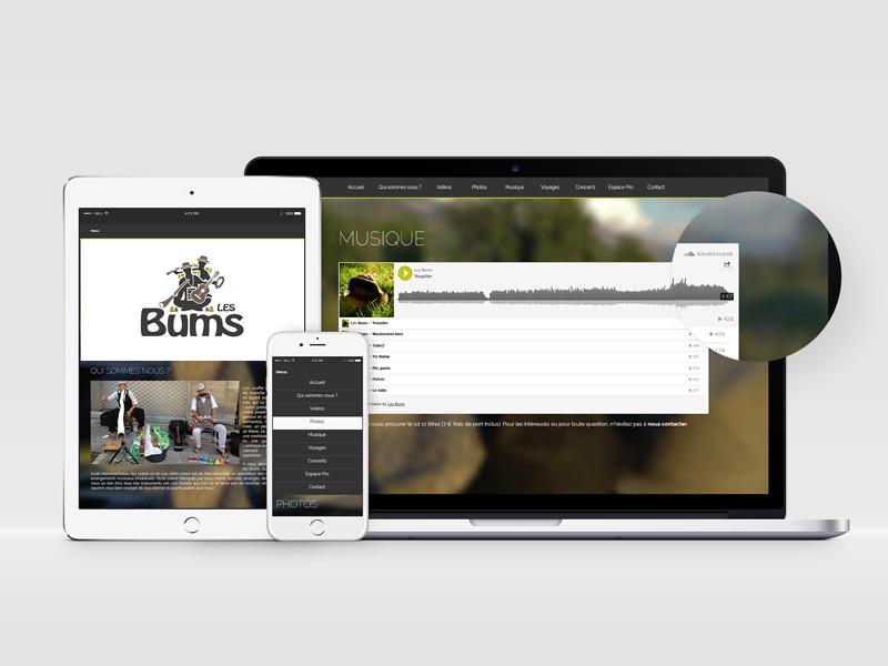 Site Internet Les Bums