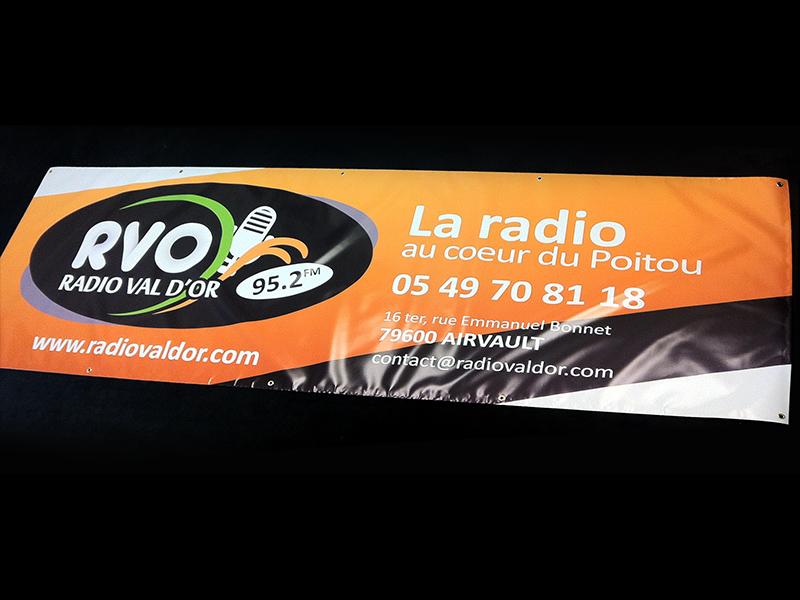 Bâche radioval d'or