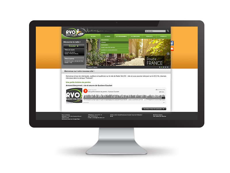 Site Internet radio val d'or