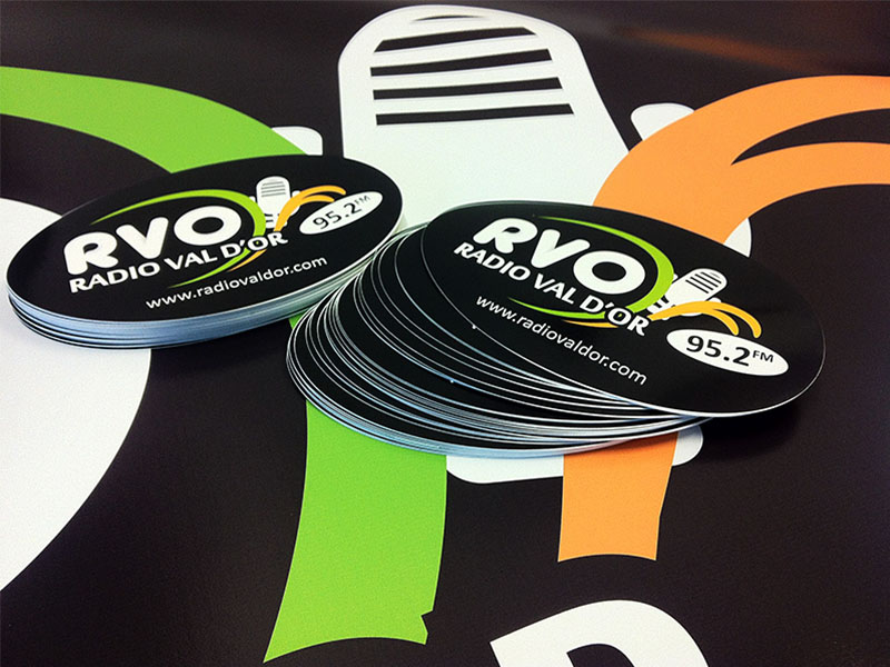 Radio val d'or stickers